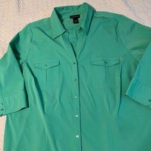 Lane Bryant Blouse size 22/24 Green